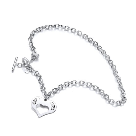 Selling: Silver Heart Chain with Floating Swarovski Elements
