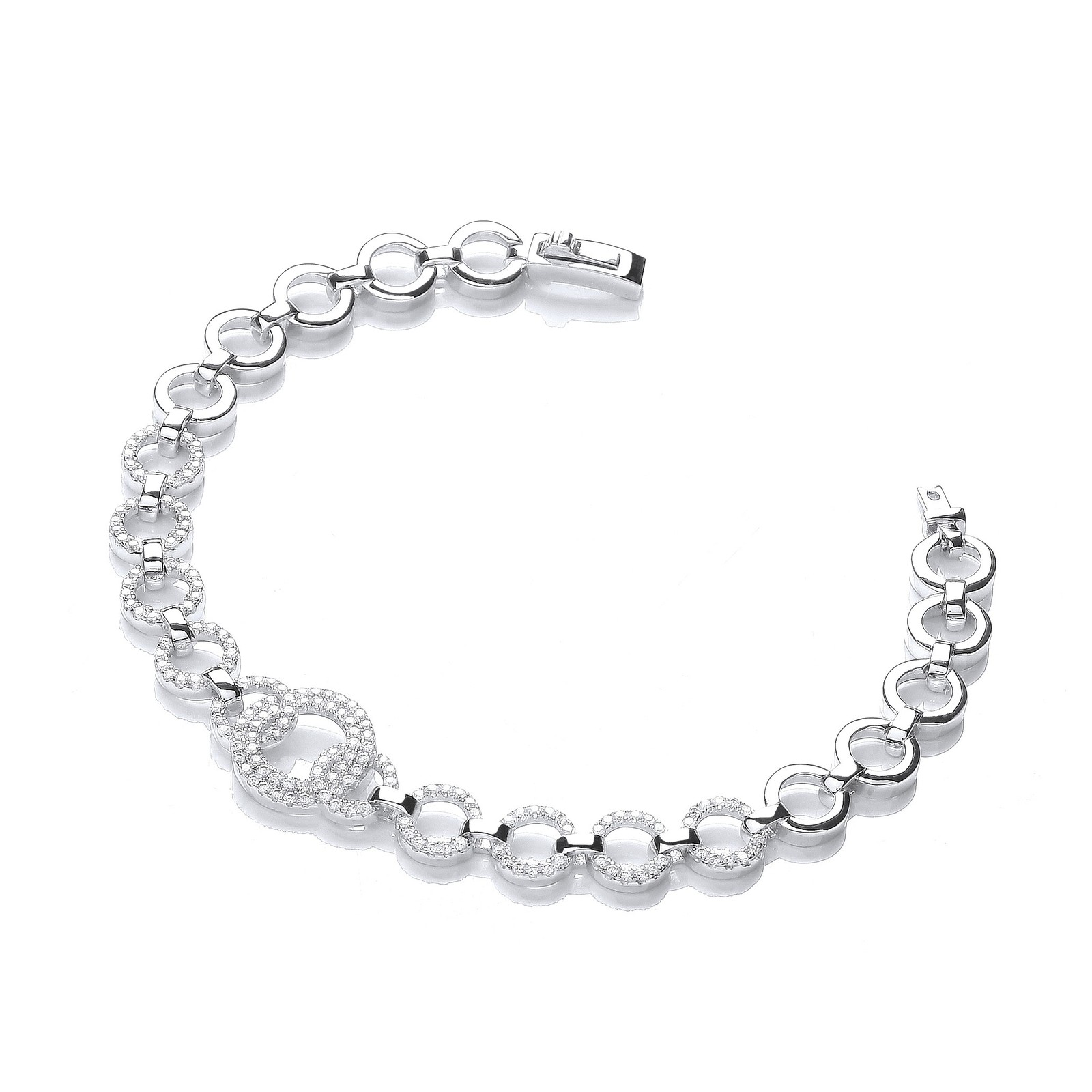 "Micro Pave' 164 White Cz's Bracelet 7.5""/19cm"