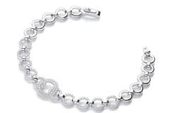 "Selling: Micro Pave' 164 White Cz's Bracelet 7.5""/19cm"