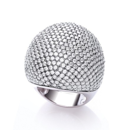 Selling: Micro Pave' Big Cocktail Ring 503 White Cz