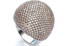 Micro Pave' Big Cocktail Ring 503 Champagne Cz