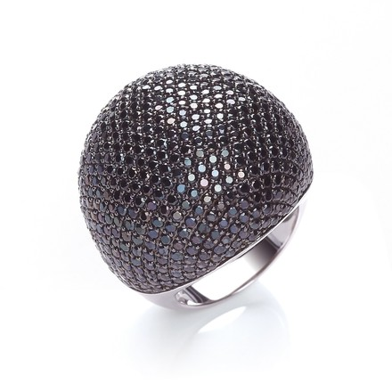 Selling: Micro Pave' Big Cocktail Ring 503 Black Cz