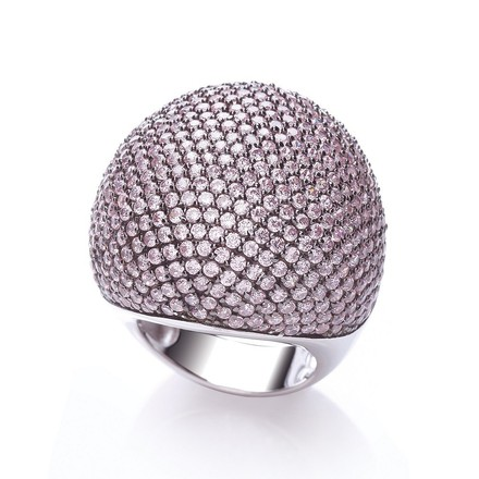 Selling: Micro Pave' Big Cocktail Ring 503 Pink Cz