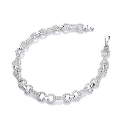 "Micro Pave' 280 White Cz's Bracelet 7.5""/19cm"