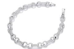 "Selling: Micro Pave' 280 White Cz's Bracelet 7.5""/19cm"