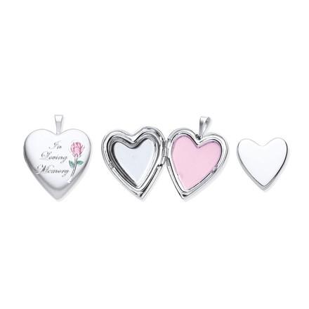 Silver Cremation Heart Locket