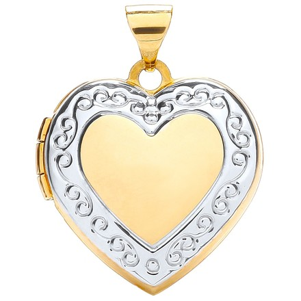 Selling: W/Y Heart Shape Locket with edge design