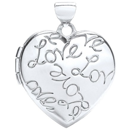 Selling: W/G Heart Locket with Love engraved