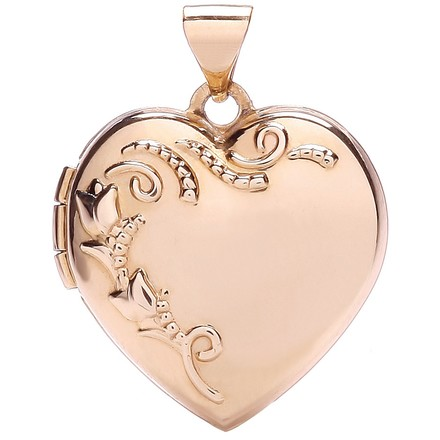 Selling: R/G Heart Shape Locket with design