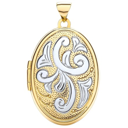 Selling: W/Y Oval Locket with design