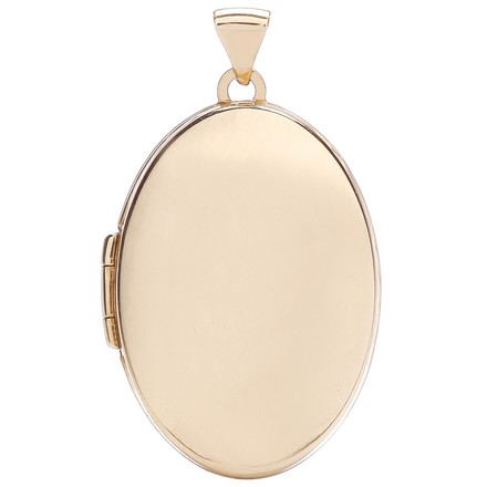 Selling: R/G Oval Plain Locket