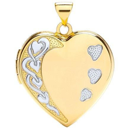 Selling: Y/W Heart Shaped Family Locket
