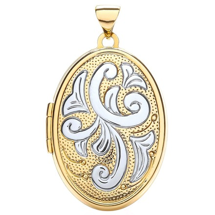 Selling: Y/W Oval Shaped Family Locket