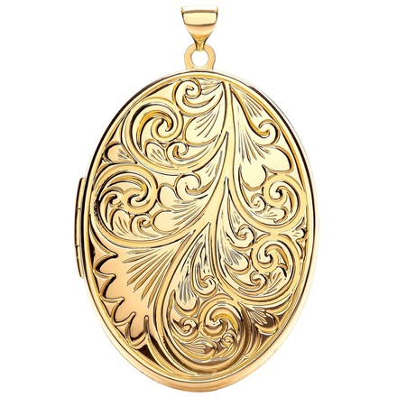 Selling: Y/G Oval Locket with design