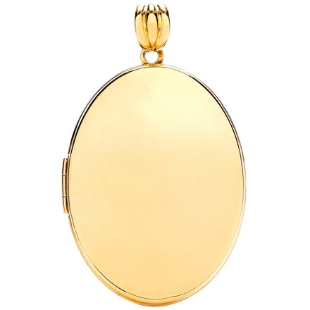 Selling: Y/G Oval Plain Locket