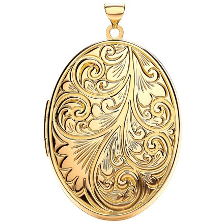 Selling: Y/G Oval Shaped Family Locket
