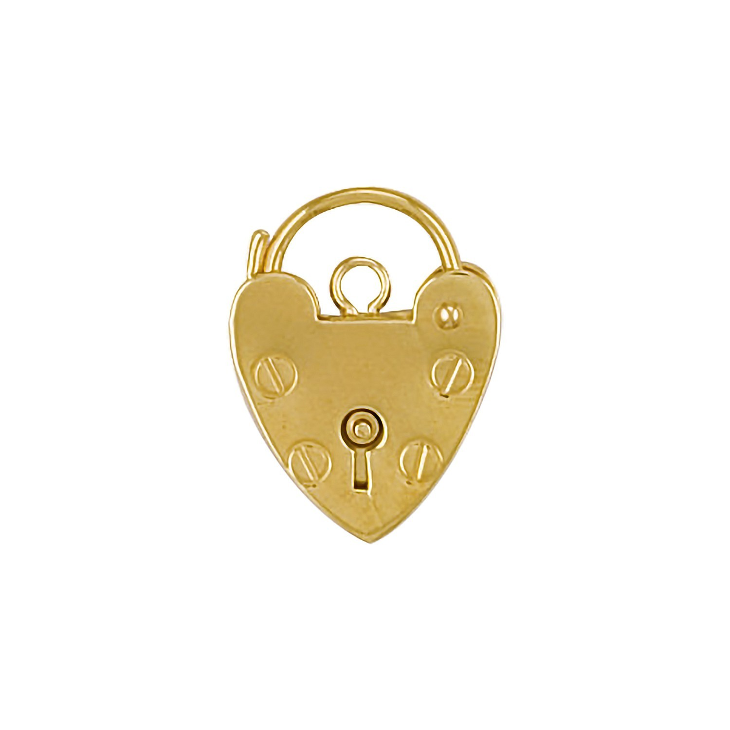 9ct YG 13.5mm Padlock