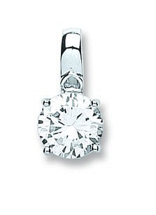 Selling: Silver Claw Set Cz Single Stone Pendant