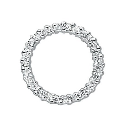 Silver Cz Circle of Life Pendant