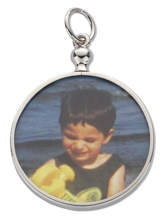 Silver Round Picture Frame Pendant