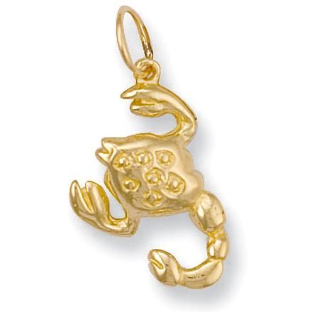 Selling: Y/G Scorpio Zodiac Pendant