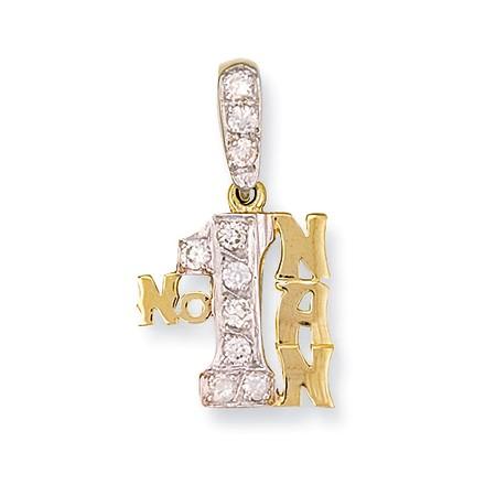 Selling: Y/G Cz No:1 Nan Pendant