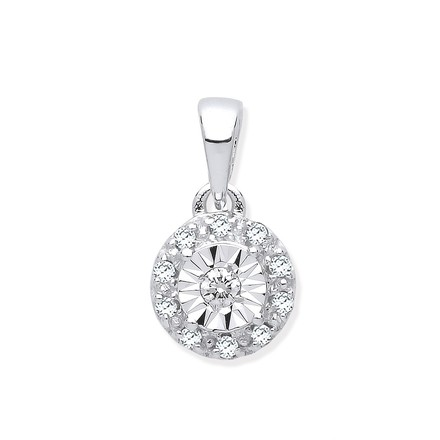 Selling: 9ct White Gold 0.07ct Diamond Pendant