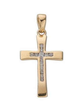 Selling: 9ct Yellow Gold 0.10ct Diamond Cross