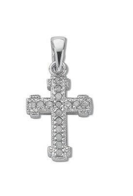 Selling: 9ct White Gold 0.06ct Diamond Cross