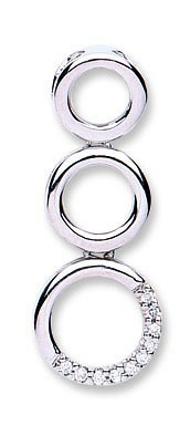 Selling: 9ct White Gold 0.05ct Diamond Drop Pendant