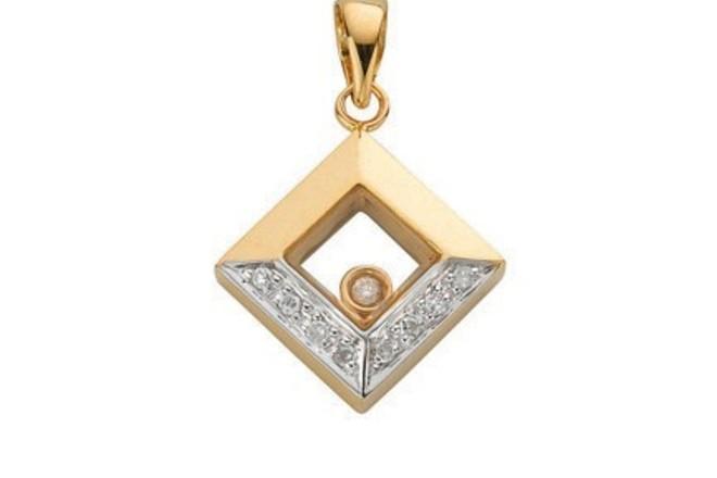 Selling: 9ct Yellow Gold 0.05ct Floating Diamond Pendant