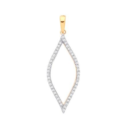 Selling: 9ct Yellow Gold 0.17ct Diamond Pendant
