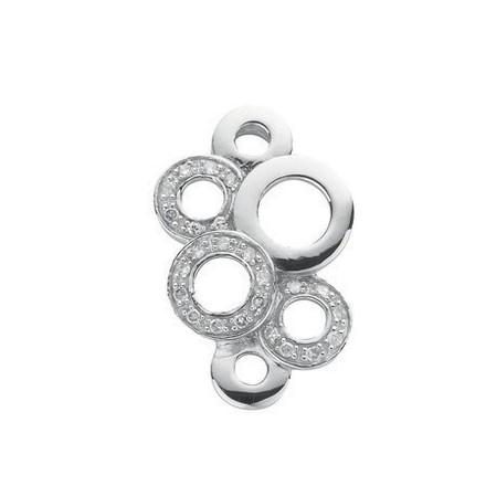Selling: 9ct White Gold 0.12ct Diamond Drop Pendant