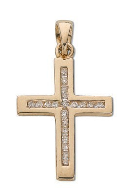 Selling: 9ct Yellow Gold 0.15ct Diamond Cross