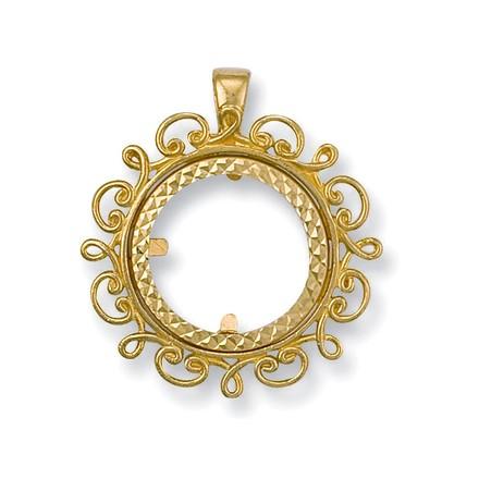 Selling: Y/G (Half) Fancy Sovereign Pendant