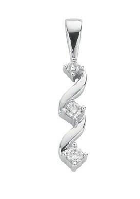 Selling: 9ct White Gold 0.15ct Diamond Trilogy Pendant