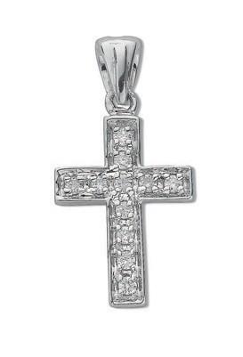 Selling: 9ct White Gold 0.10ct Diamond Cross