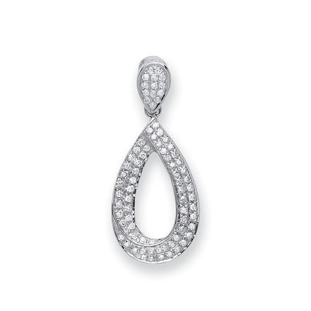 Selling: 9ct White Gold 0.20ct Pear Diamond Drop Pendant