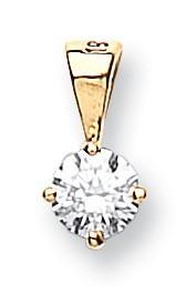 Selling: 18ct Yellow Gold 0.15ct Claw Set Diamond Pendant