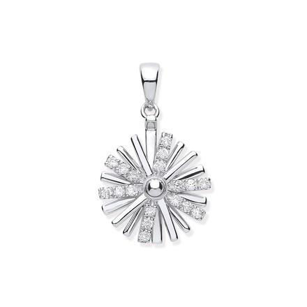 Selling: 9ct White Gold 0.16ct Spinning Diamond Pendant