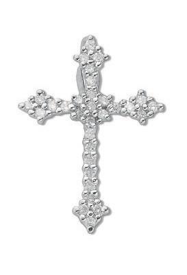 Selling: 9ct Whte Gold 0.25ct Diamond Cross
