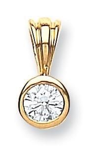 Selling: 18ct Yellow Gold 0.15ct Rubover Set Diamond Pendant