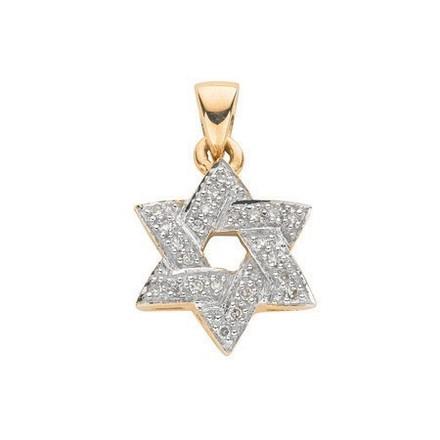 Selling: 9ct Yellow Gold 0.15ct Diamond Star of David Pendant