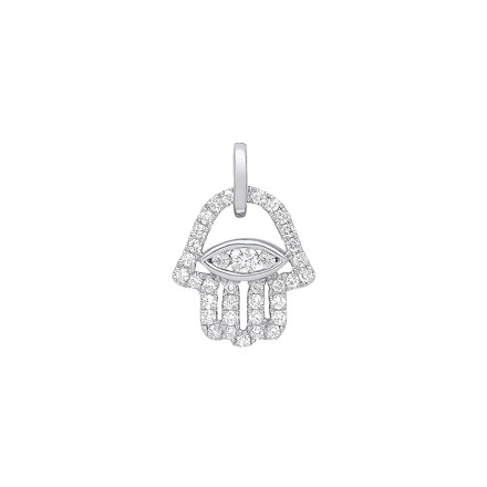 Selling: 9ct White Gold 0.22ct diamonds Hamsa Pendant