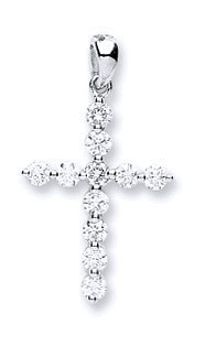 Selling: 18ct White Gold 0.30ct Diamond Cross