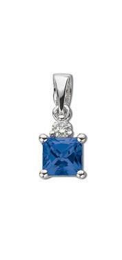 Selling: 18ct White Gold Diamond & Tanzanite Pendant