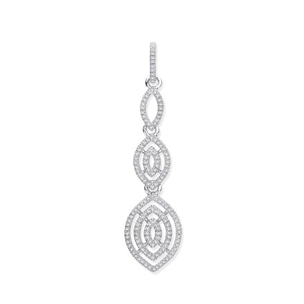 Selling: 9ct White Gold Drop 0.25ct Diamond Pendant