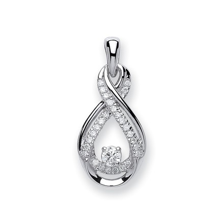 Selling: 9ct White Gold 0.20ct Diamond Pendant