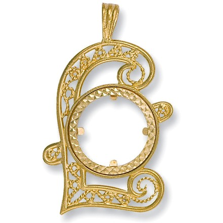 Y/G (Full) Pound Sign Sovereign Pendant