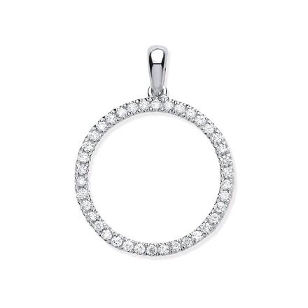 Selling: 9ct White Gold 0.33ct Circle of Life Diamond Pendant